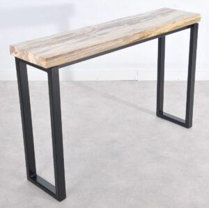 Consoletafel versteend hout 36118