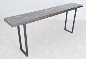 Consoletafel versteend hout 36138