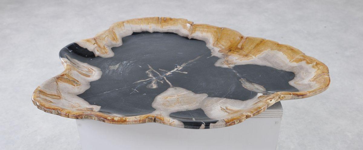 Plato madera petrificada 36041