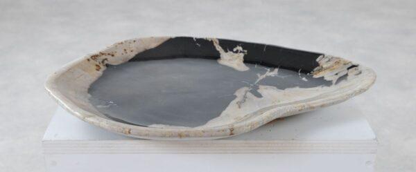 Plato madera petrificada 36049o