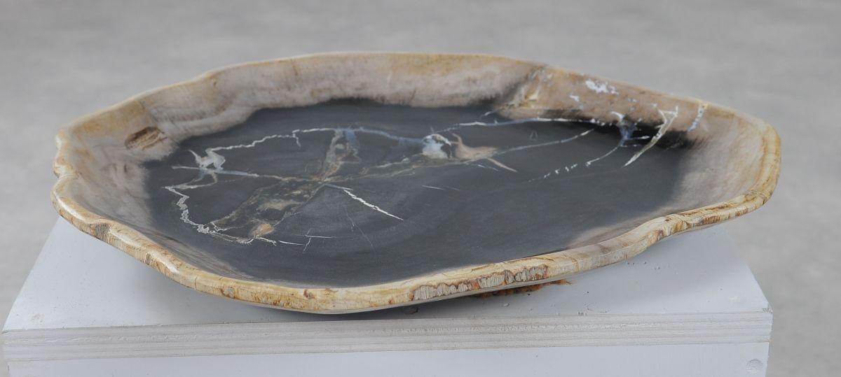 Plato madera petrificada 36050l