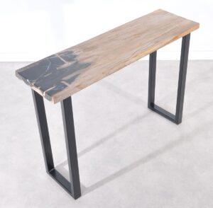 Table console bois pétrifié 36116