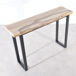 Table console bois pétrifié 36119