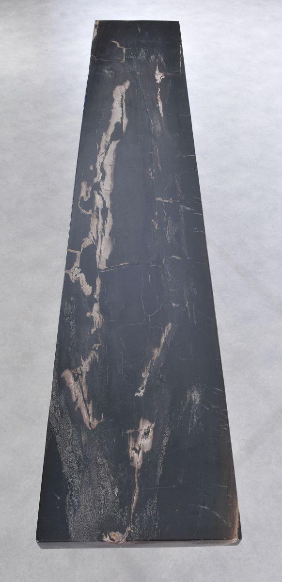 Table console bois pétrifié 36120