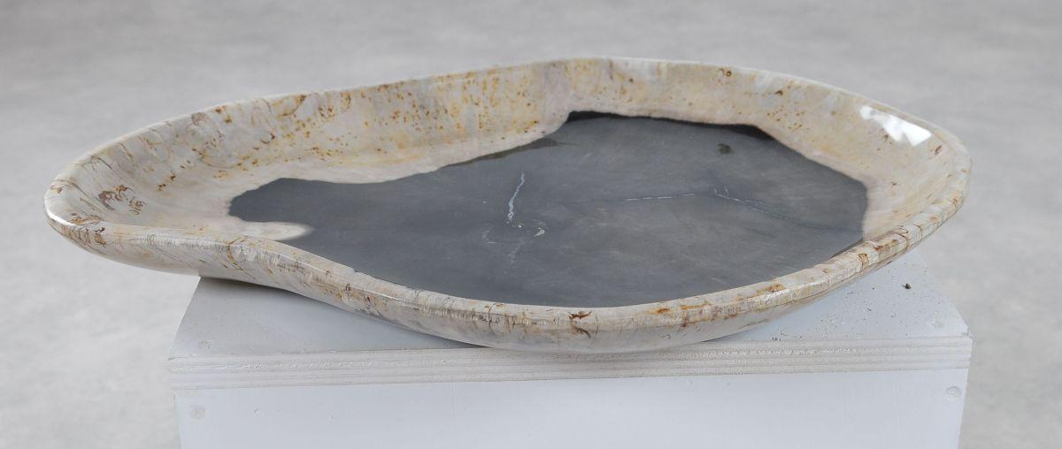 Teller versteinertes Holz 36051a