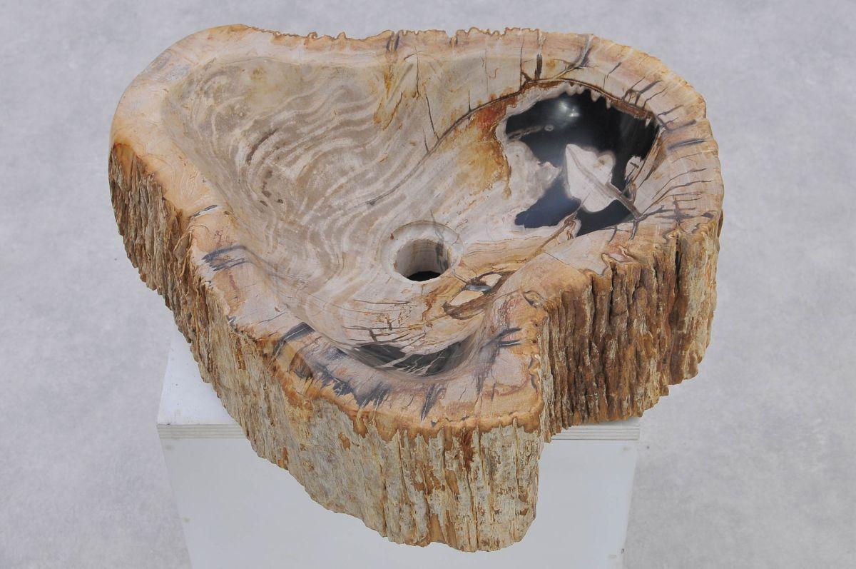 Lavabo madera petrificada 37323