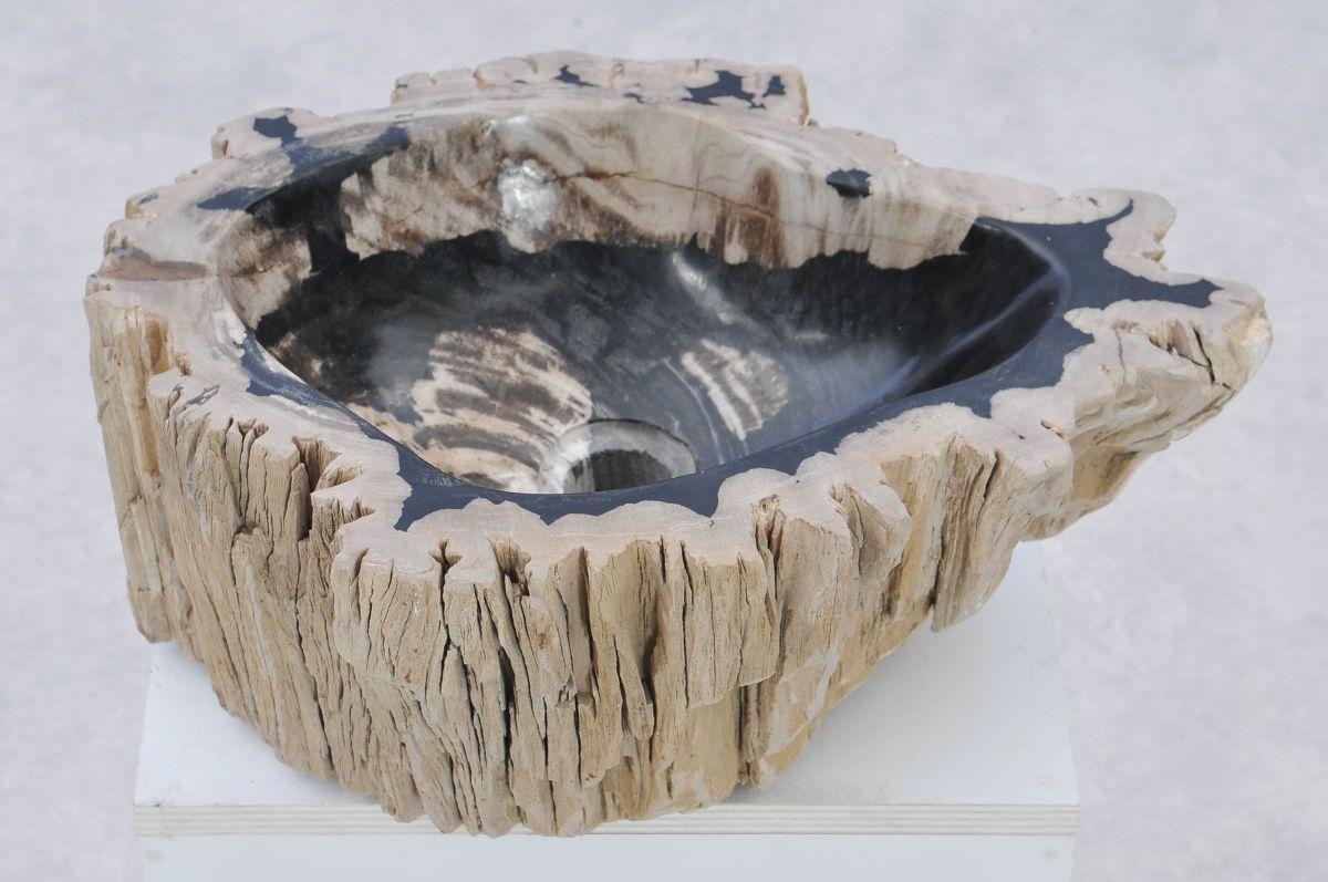 Lavabo madera petrificada 37330