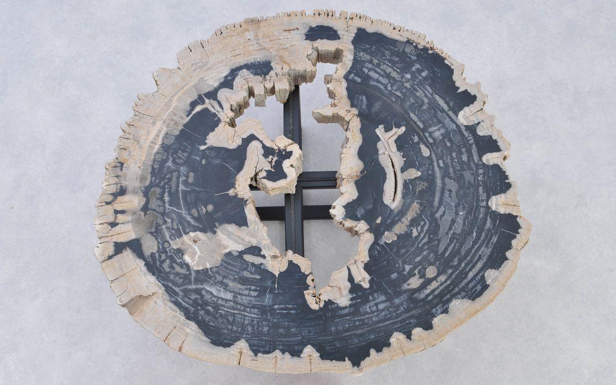 Mesa de centro madera petrificada 37183