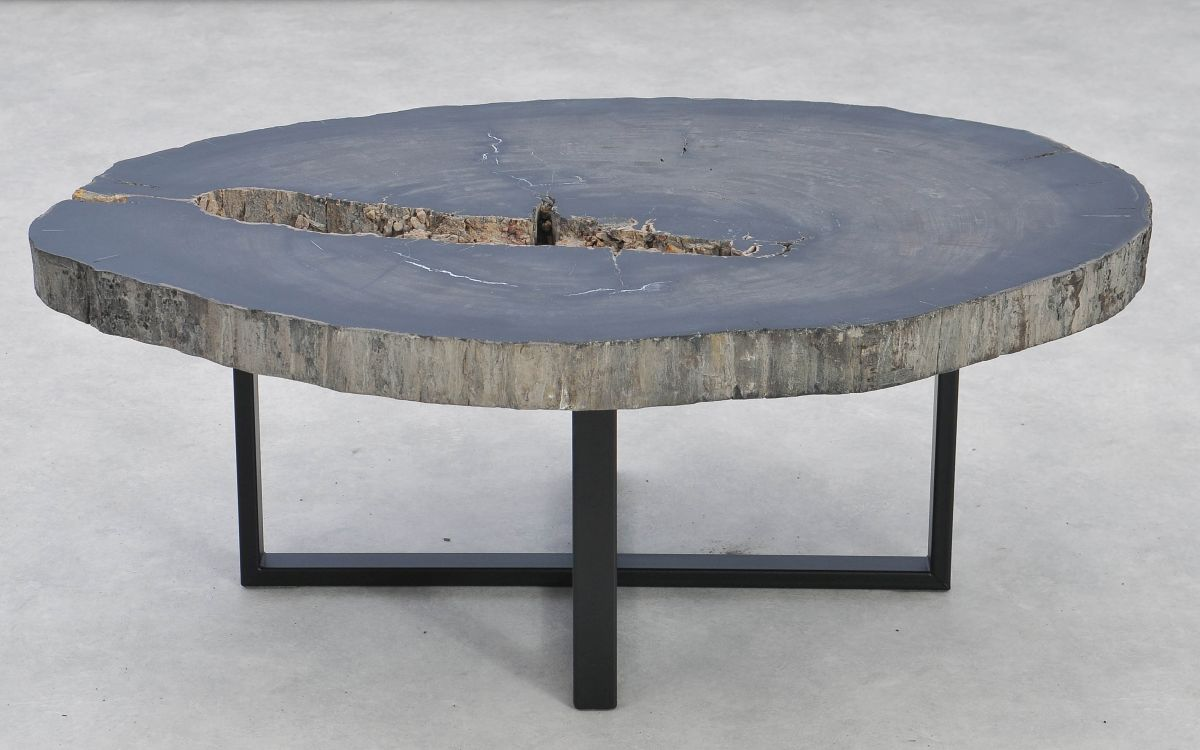 Mesa de centro madera petrificada 37256