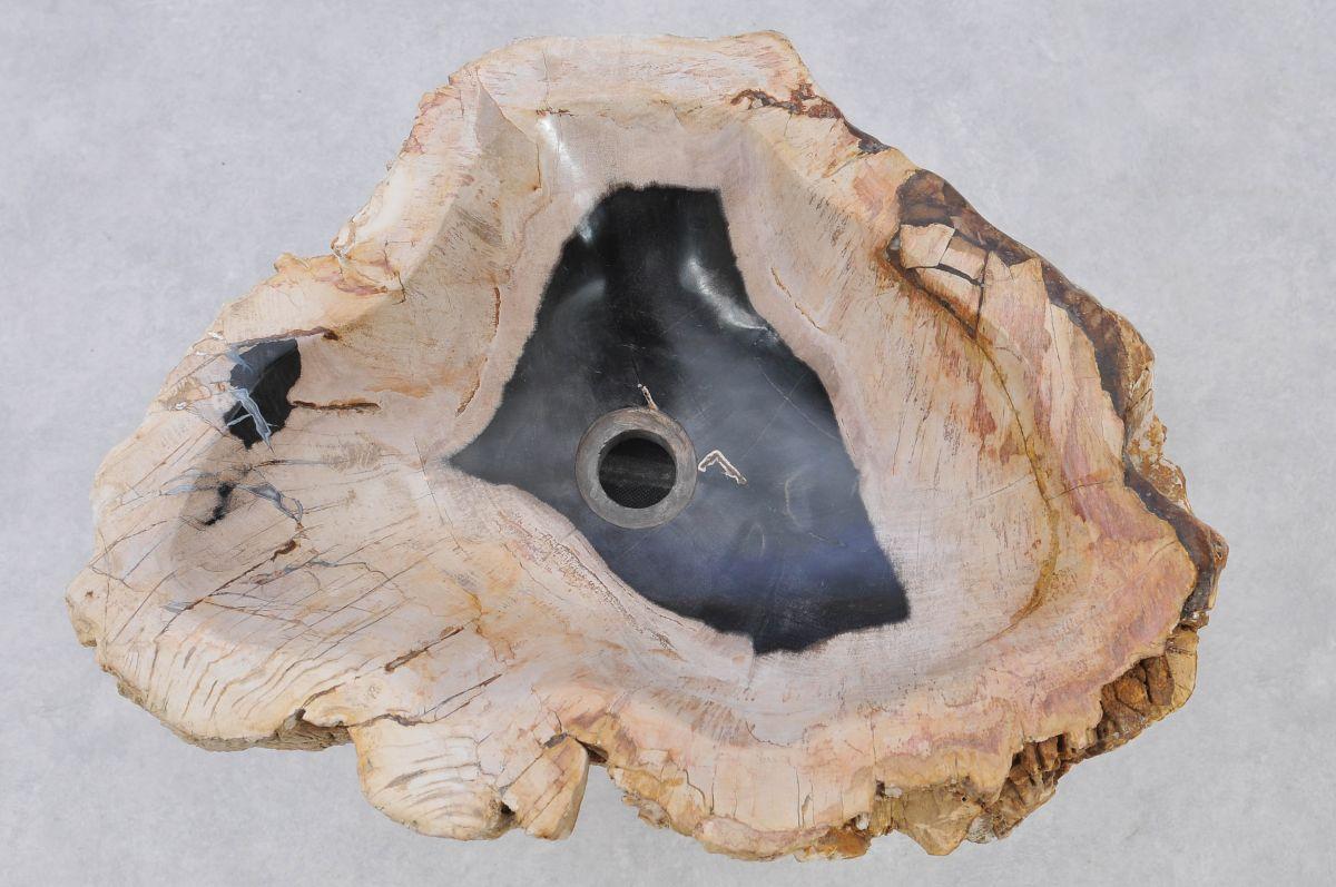Waschbecke versteinertes Holz 37325