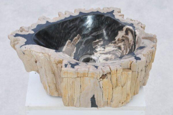 Waschbecke versteinertes Holz 37330