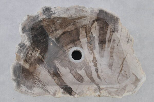 Waschbecke versteinertes Holz 37331
