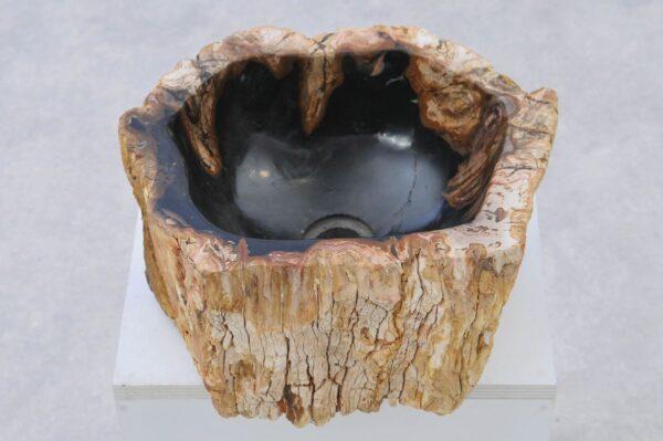 Waschbecke versteinertes Holz 37332