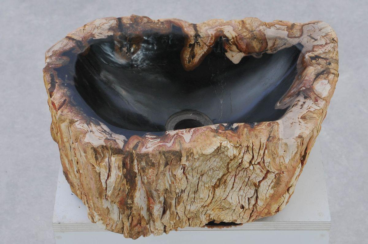 Waschbecke versteinertes Holz 37334