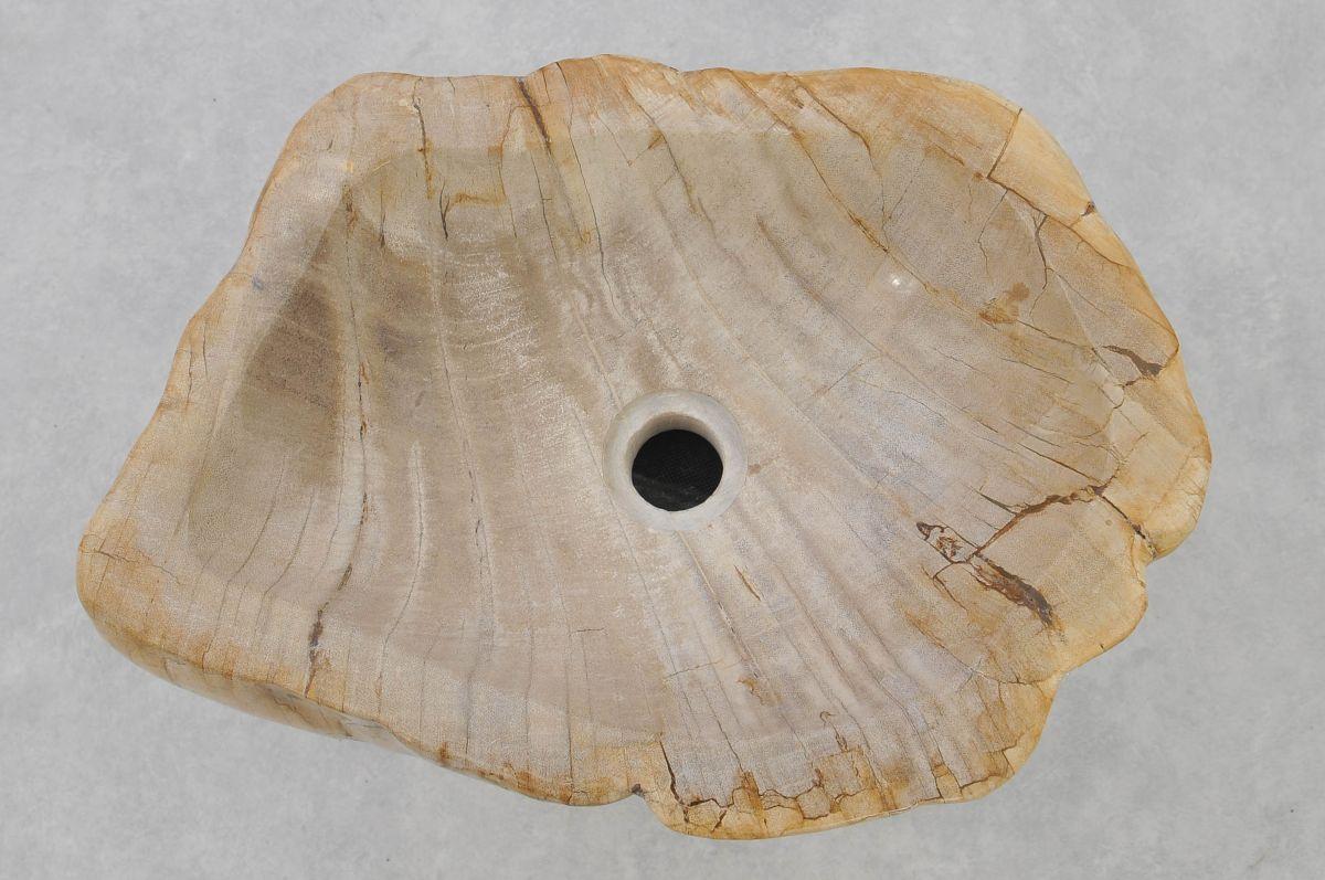 Waschbecke versteinertes Holz 37335