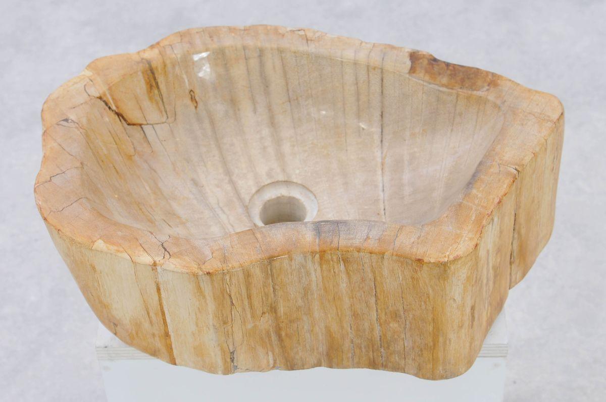 Waschbecke versteinertes Holz 37336