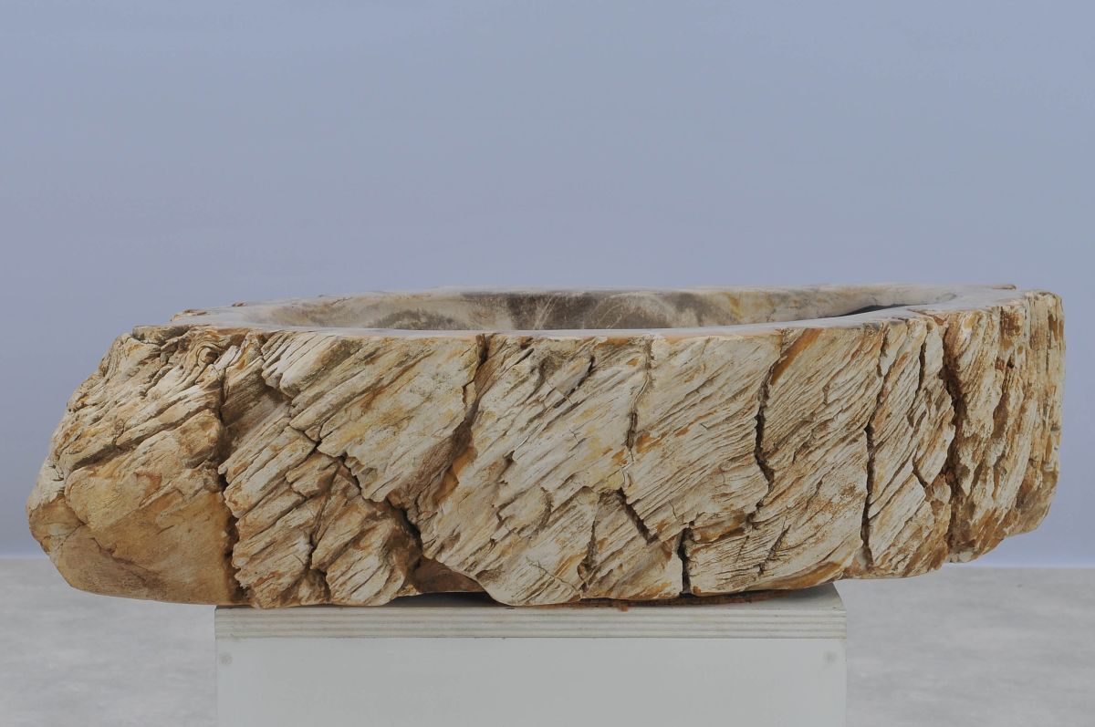 Waschbecke versteinertes Holz 37340