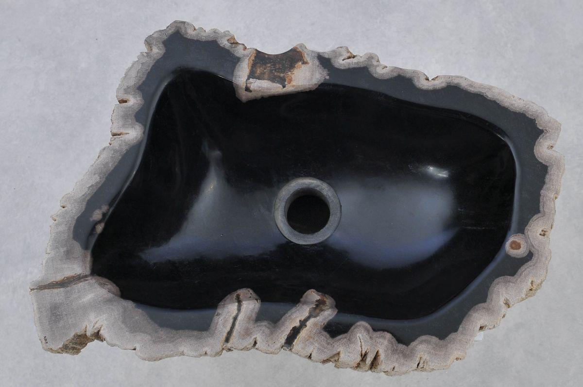 Waschbecke versteinertes Holz 37348