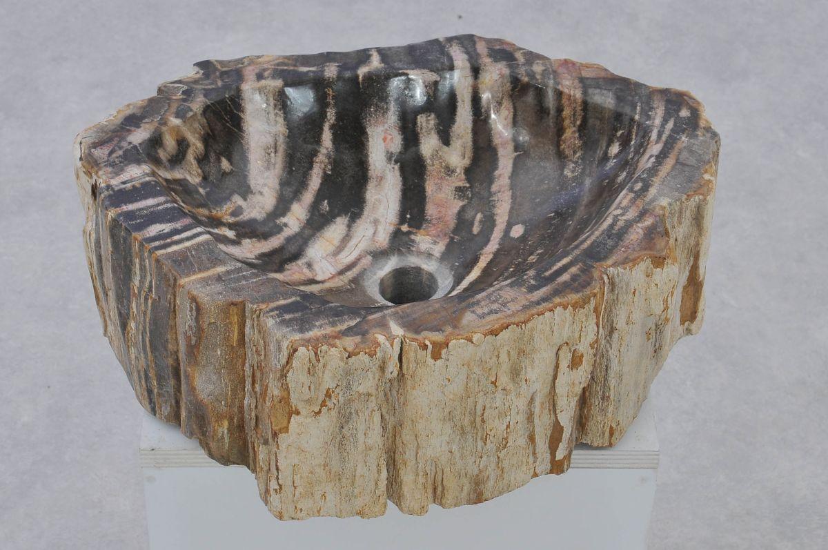 Waschbecke versteinertes Holz 37349