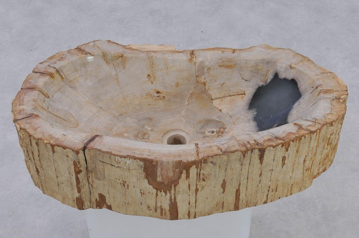 Waschbecke versteinertes Holz 37350
