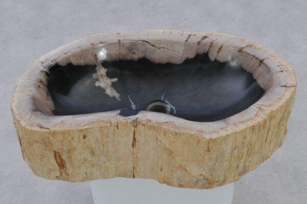 Waschbecke versteinertes Holz 37353