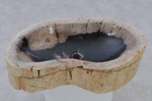 Waschbecke versteinertes Holz 37354