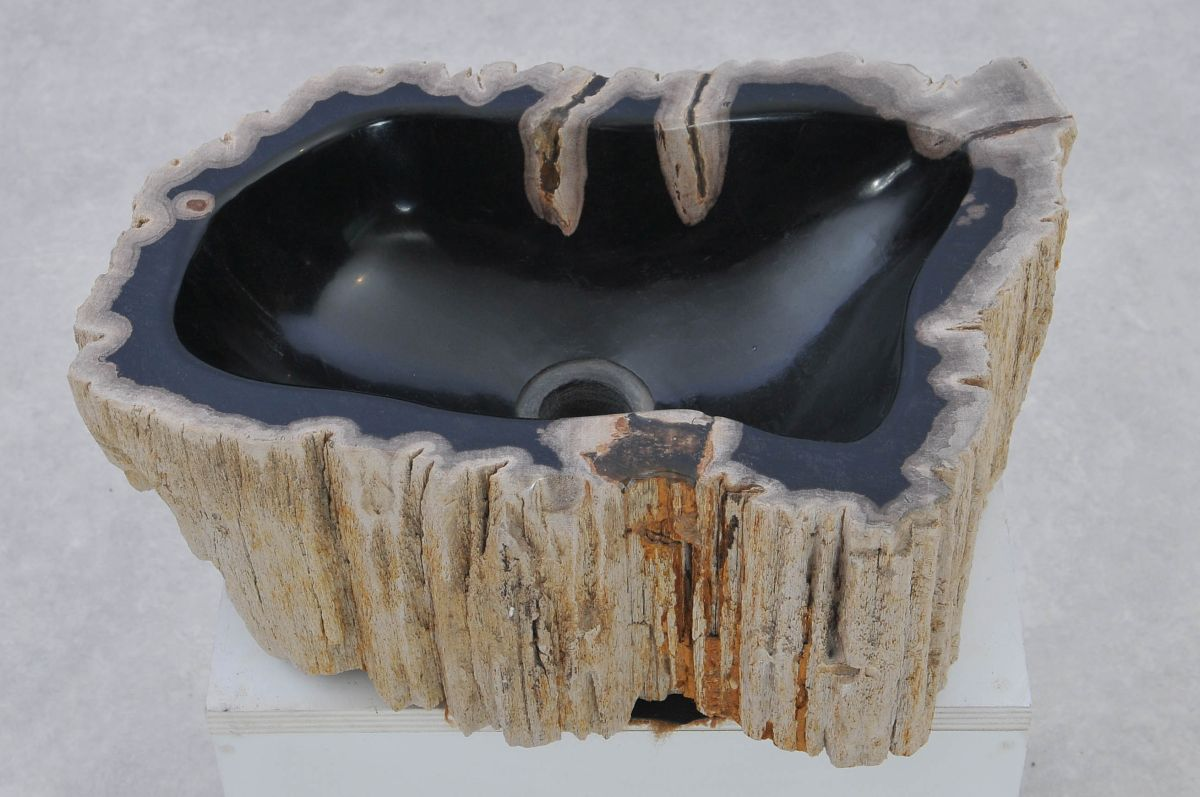 Wash hand basin petrified wood 37348