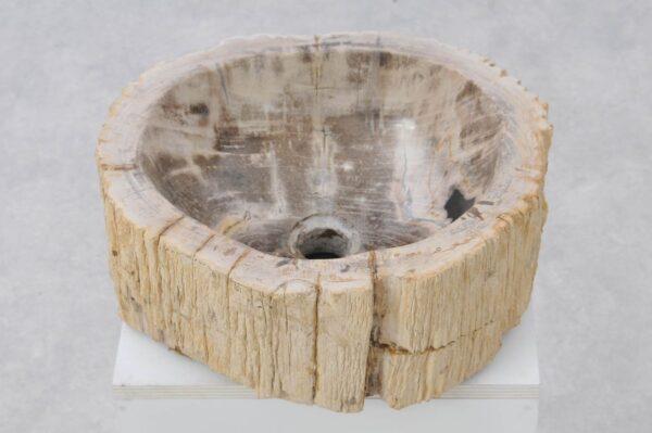 Wastafel versteend hout 37328