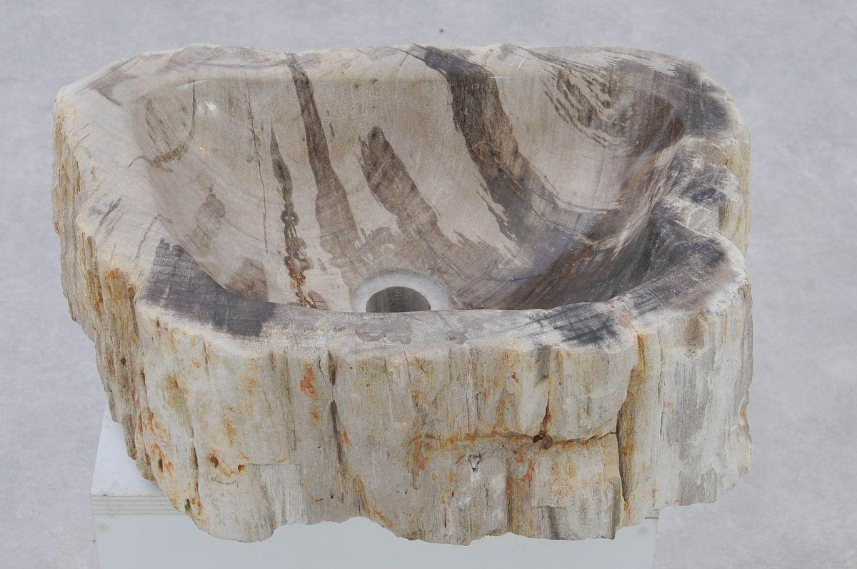 Wastafel versteend hout 37331