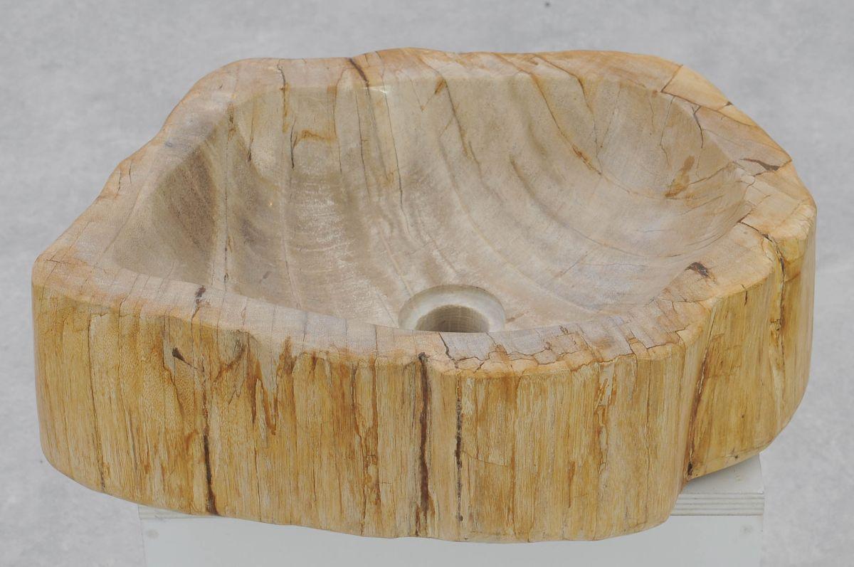 Wastafel versteend hout 37335