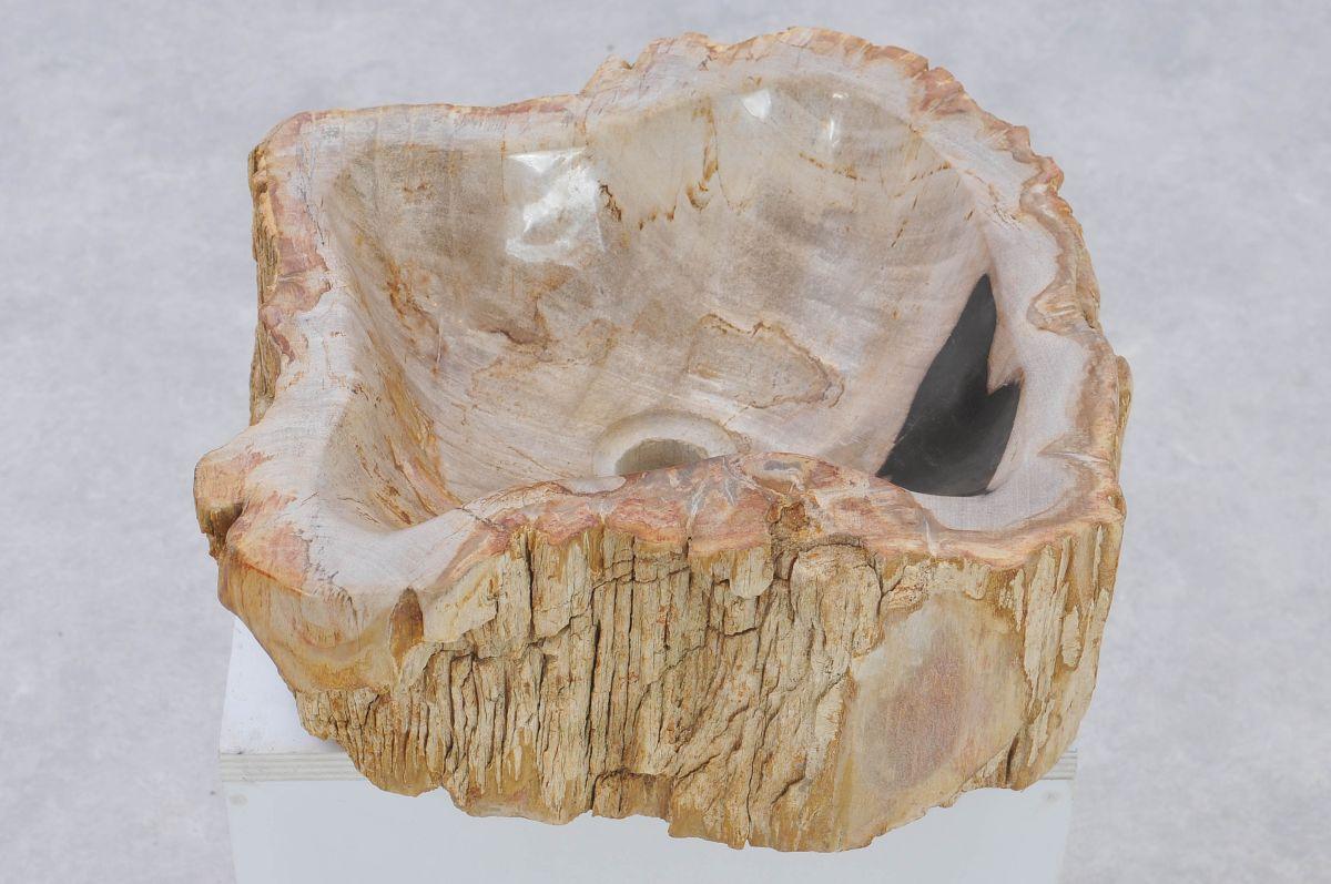 Wastafel versteend hout 37337