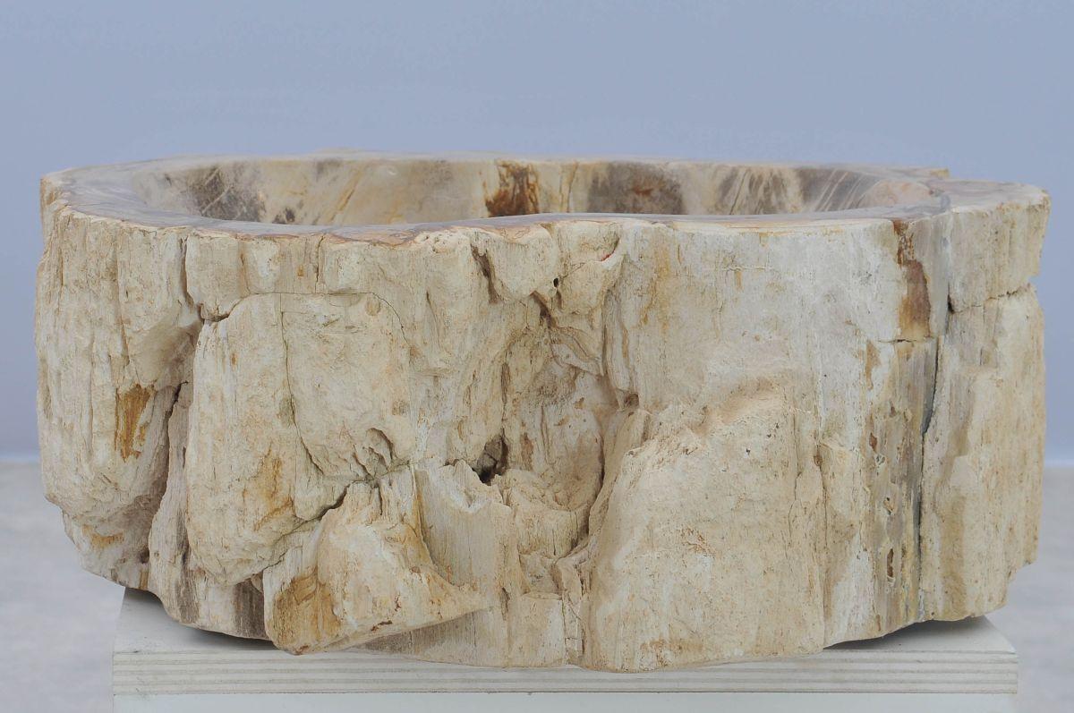 Wastafel versteend hout 37338