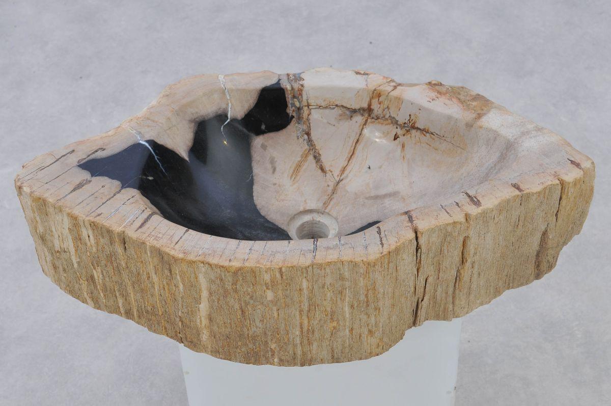 Wastafel versteend hout 37342
