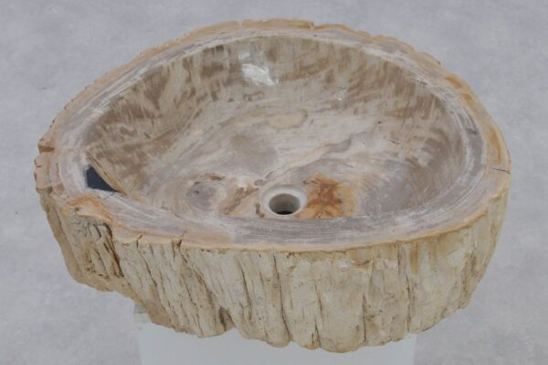 Wastafel versteend hout 37343