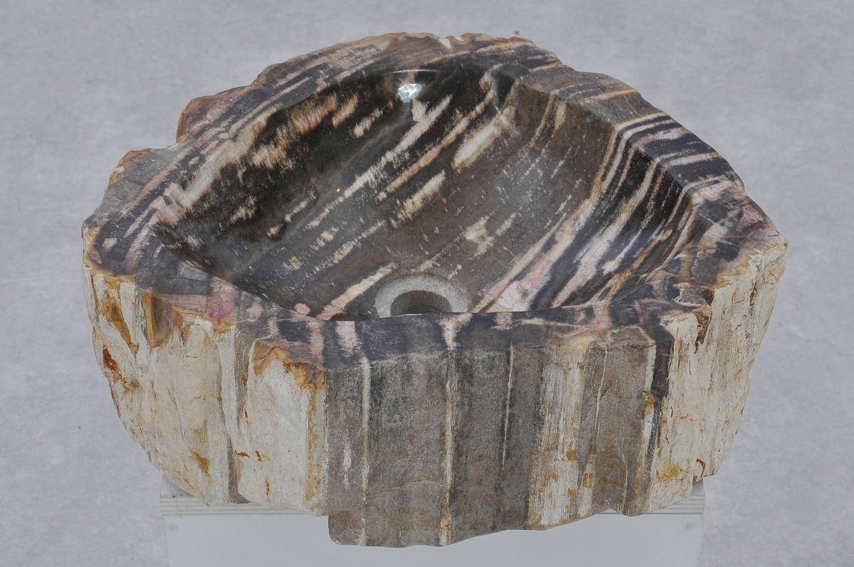 Wastafel versteend hout 37349