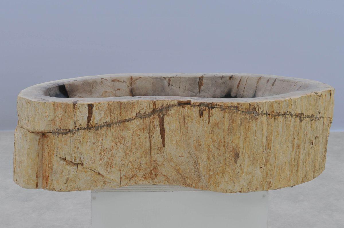 Wastafel versteend hout 37354