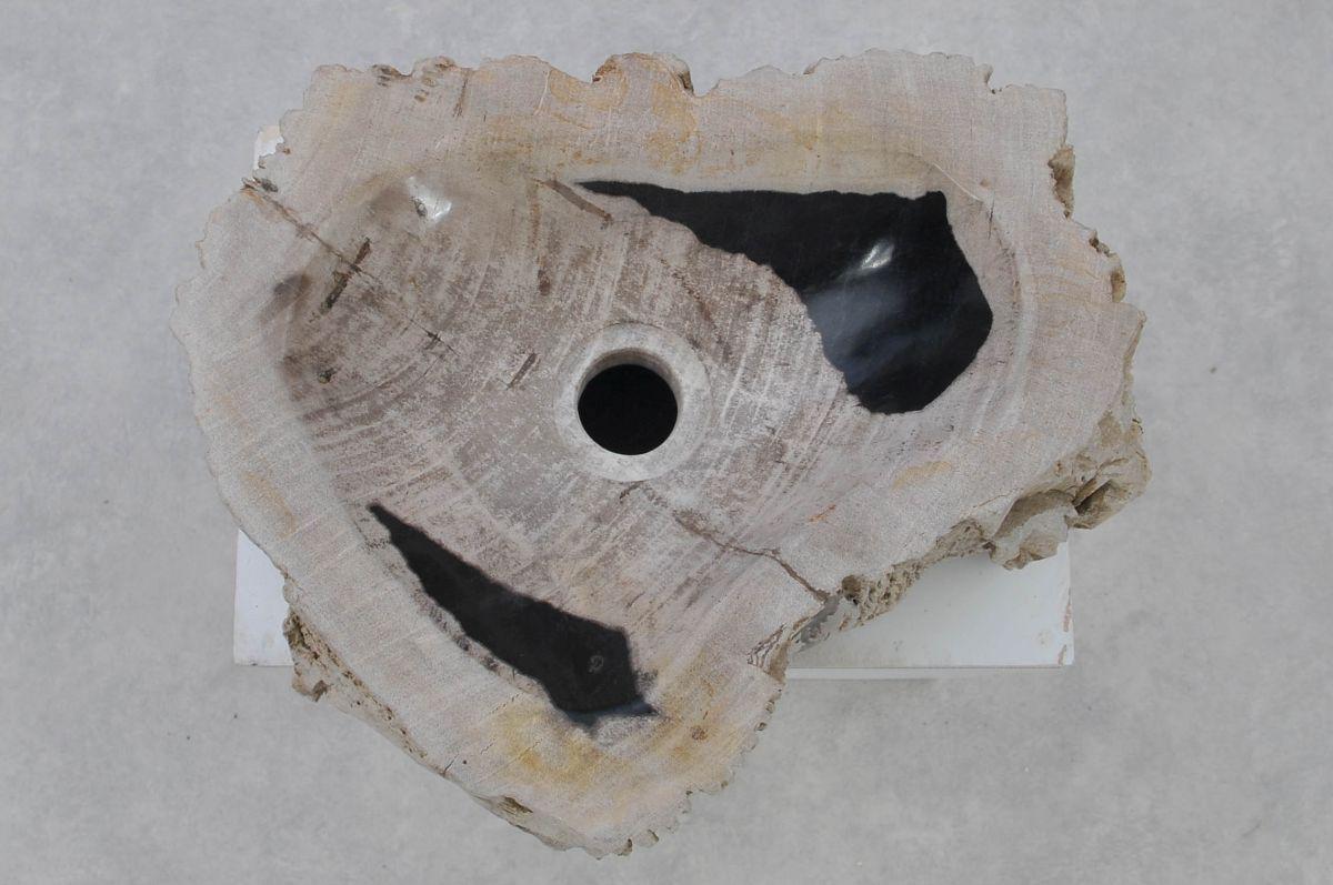 Wastafel versteend hout 37367